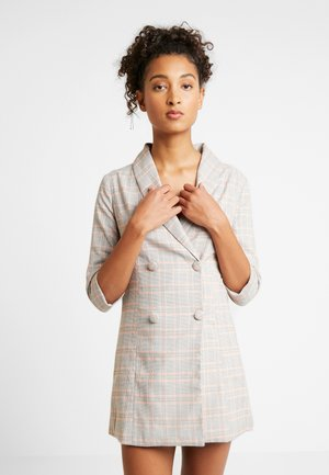 PLAID BLAZER MINI DRESS - Day dress - orange