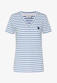 Kaffe - KALIDDY V-NECK  - Print T-shirt - chalk - 3