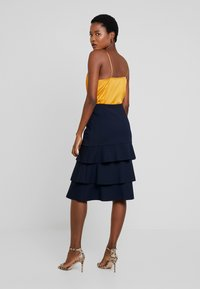 Apart - HEAVY SKIRT WITH VOLANTS - Jupe trapèze - midnightblue - 2