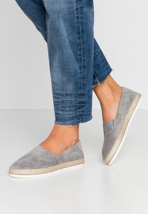 LEATHER - Espadrillos - grey