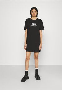 Alpha Industries - BASIC LONG - Jersey dress - black - 0