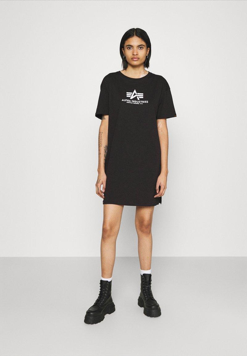 Alpha Industries - BASIC LONG - Jersey dress - black