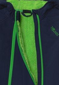 TrollKids - NORDKAPP OVERALL - Snowsuit - navy/green - 3