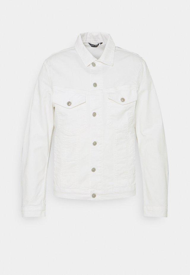 COAT SUPER SLIM FIT POWER - Denim jacket - crema