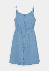 Vero Moda - VMFLICKA STRAP SHORT DRESS  - Denim dress - light blue - 0