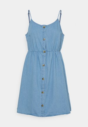 VMFLICKA STRAP SHORT DRESS  - Denim dress - light blue