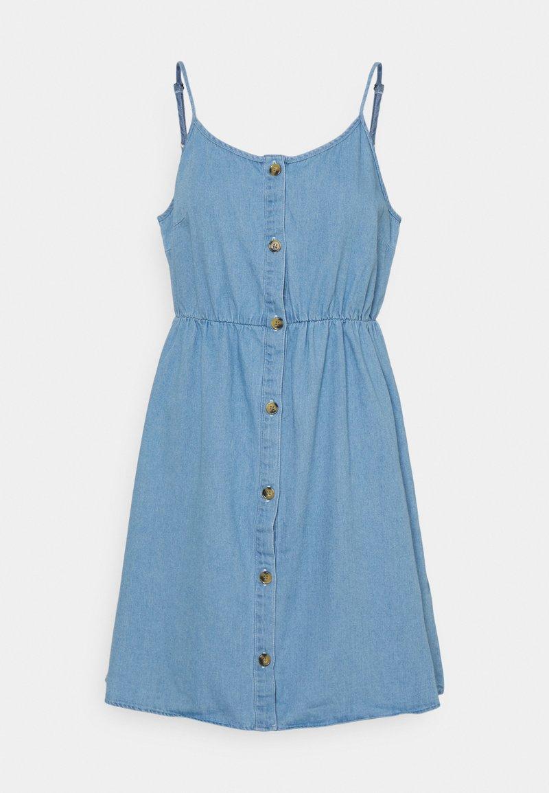 Vero Moda - VMFLICKA STRAP SHORT DRESS  - Denim dress - light blue