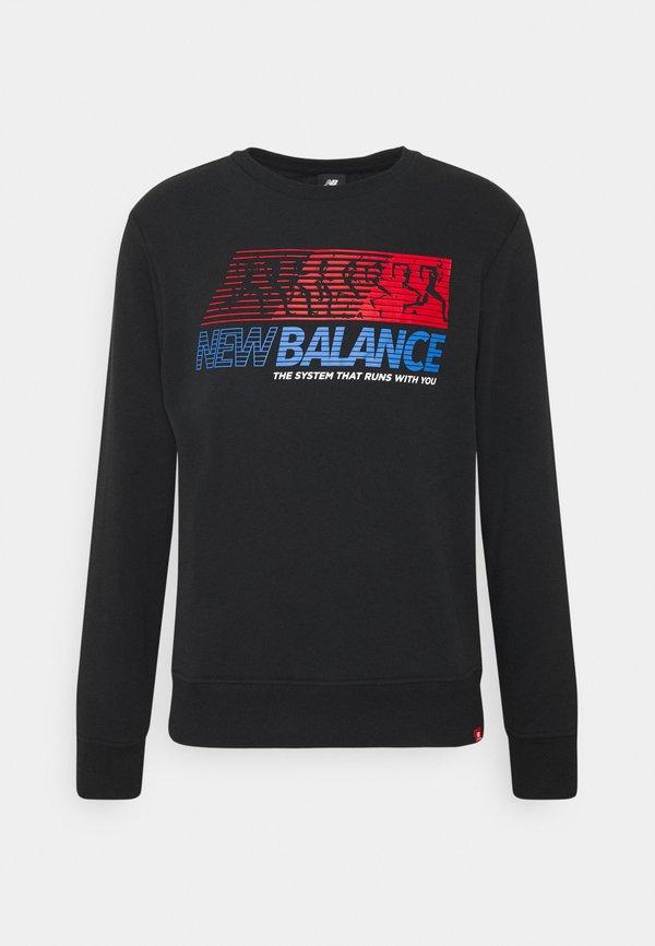 New Balance HOODIE - Bluza - black/czarny Odzież Męska JVYE