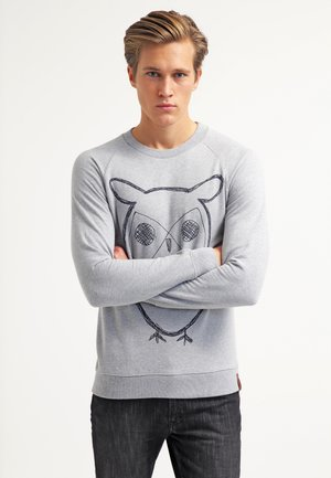 BIG OWL - Sweatshirts - grey melange