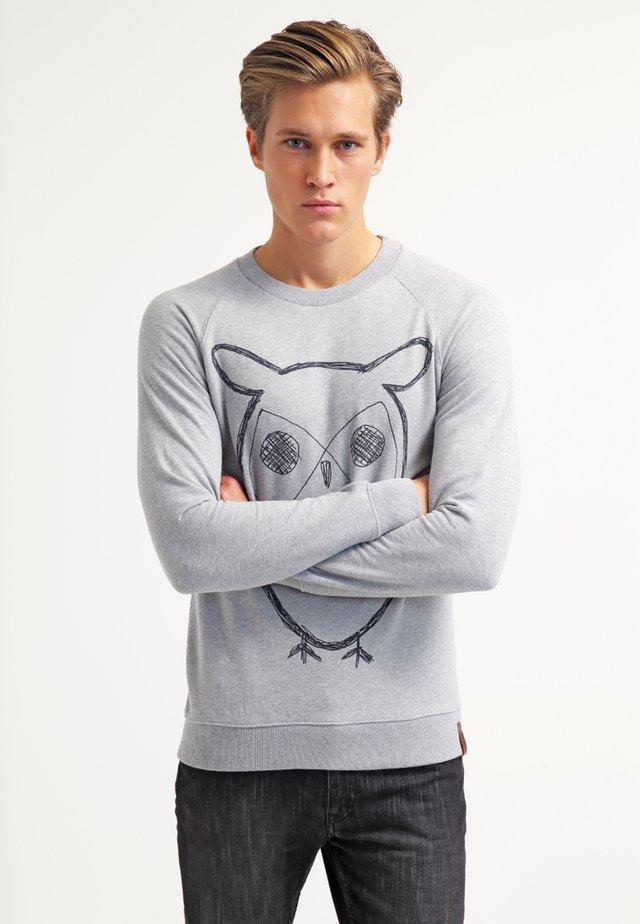 BIG OWL - Collegepaita - grey melange