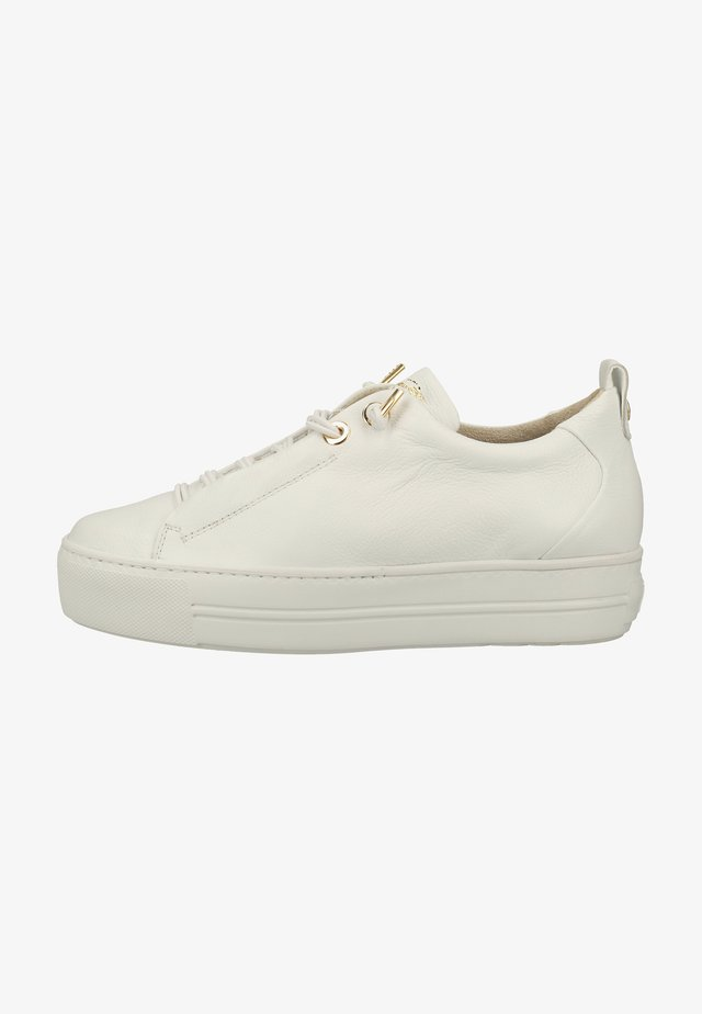 Sneakers laag - weiß/gold