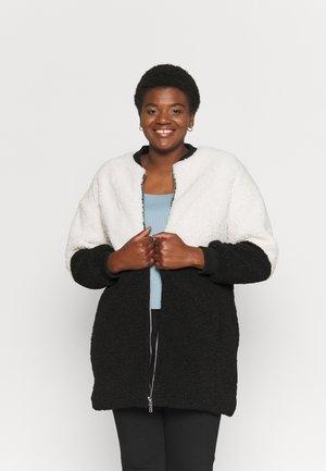 Winter coat - black/cream