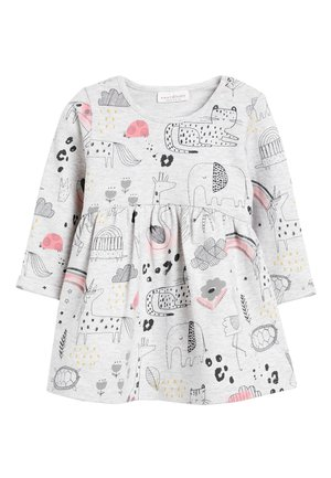 GREY PRINTED SWEAT DRESS (0MTHS-2YRS) - Denní šaty - grey