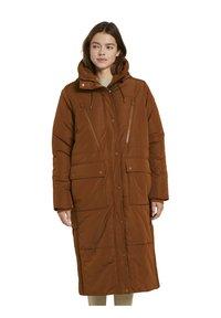 TOM TAILOR DENIM - PADDED LONG COAT - Winterjas - burnt hazelnut brown - 5