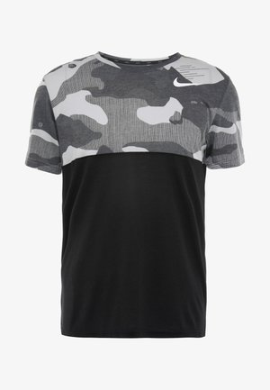DRY CAMO - Print T-shirt - black/light smoke grey/white