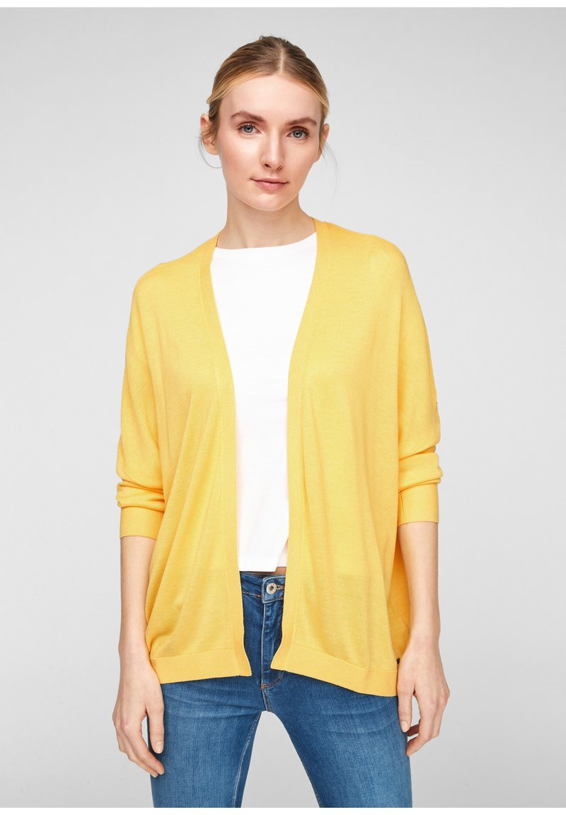 QS by s.Oliver - Cardigan - yellow melange