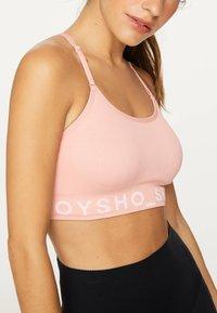 OYSHO - MIT LOGO  - Sport-bh met medium support - rose - 4