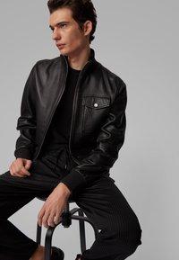 BOSS - MATEK - Leather jacket - black - 3
