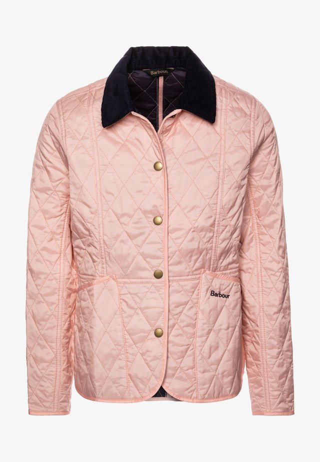 GIRLS SUMMER LIDDESDALE QUILT - Light jacket - pale coral/navy