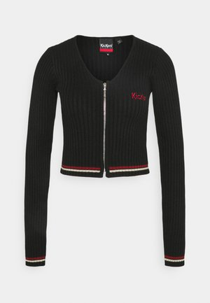 ZIP UP LONGSLEEVE - Chaqueta de punto - black