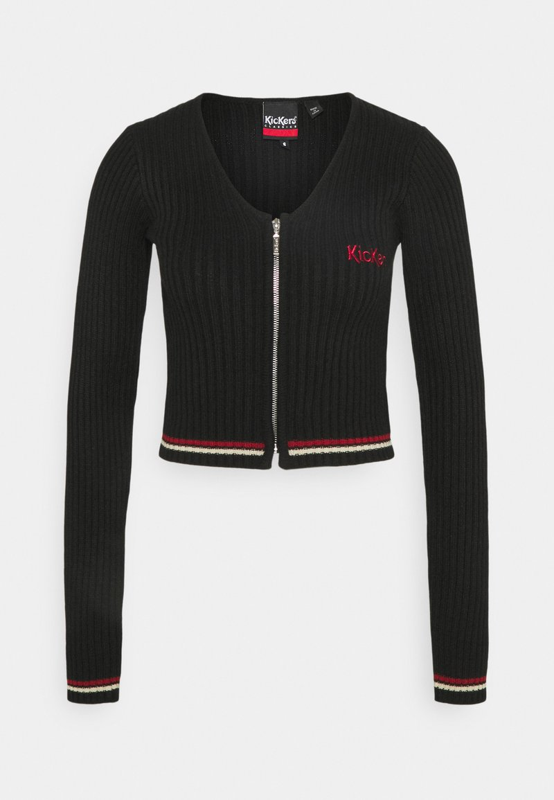 Kickers Classics - ZIP UP LONGSLEEVE - Cardigan - black