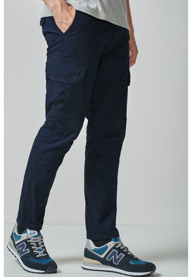 BLACK STRAIGHT FIT PURE COTTON CARGO - Kapsáče - blue