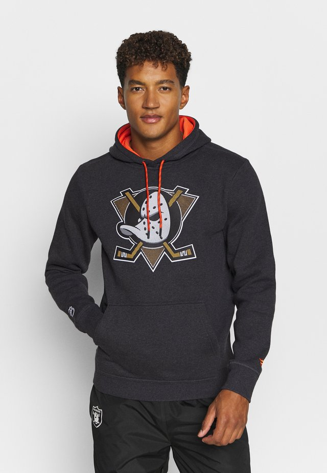 NHL ANAHEIM DUCKS ICONIC BACK TO BASICS OVERHEAD HOODIE - Felpa con cappuccio - charcoal