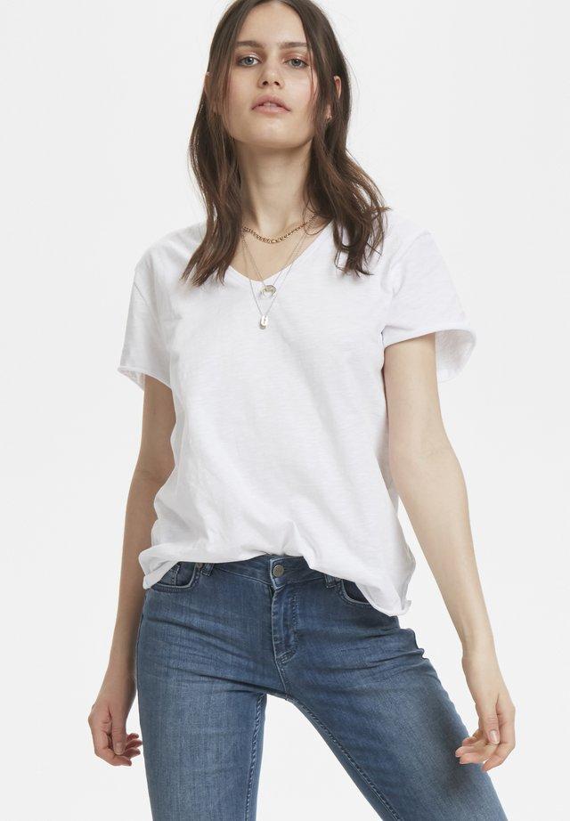 VTEE SLUB YARN - T-shirt basic - optical white