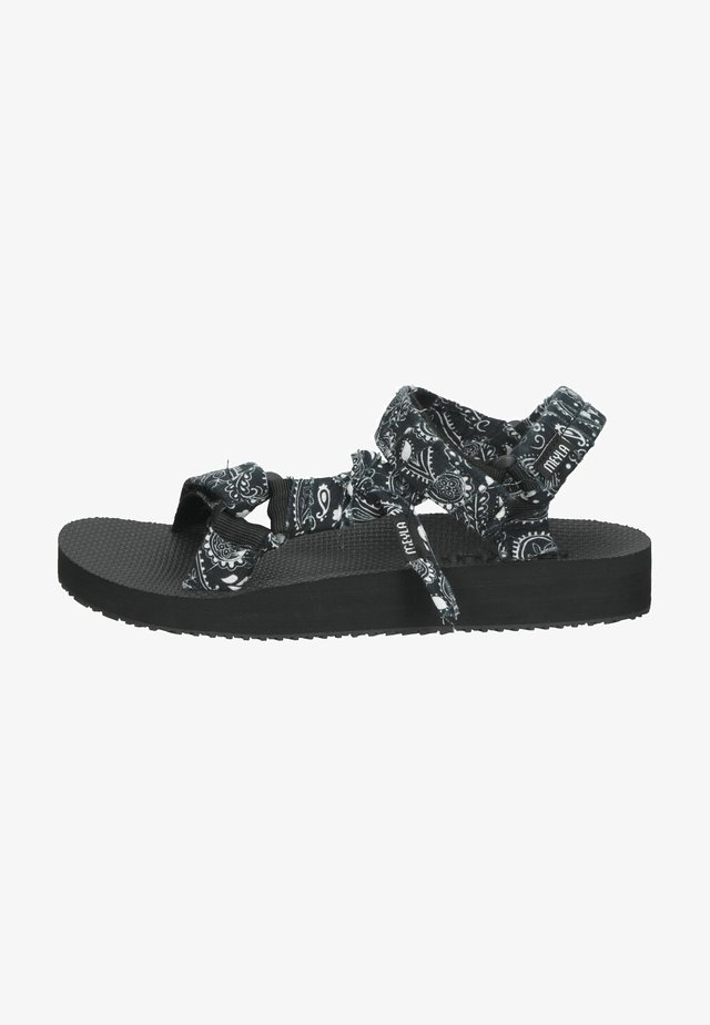 Sandalen met plateauzool - bandana schwarz