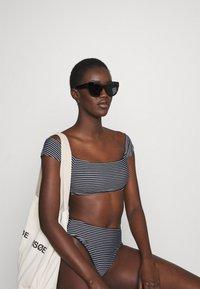 Seafolly - HIGH WAIST PANT - Bikini bottoms - black/white - 3