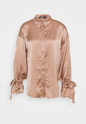 FRILL TIE EXTREME OVERSIZED - Blouse - bronze