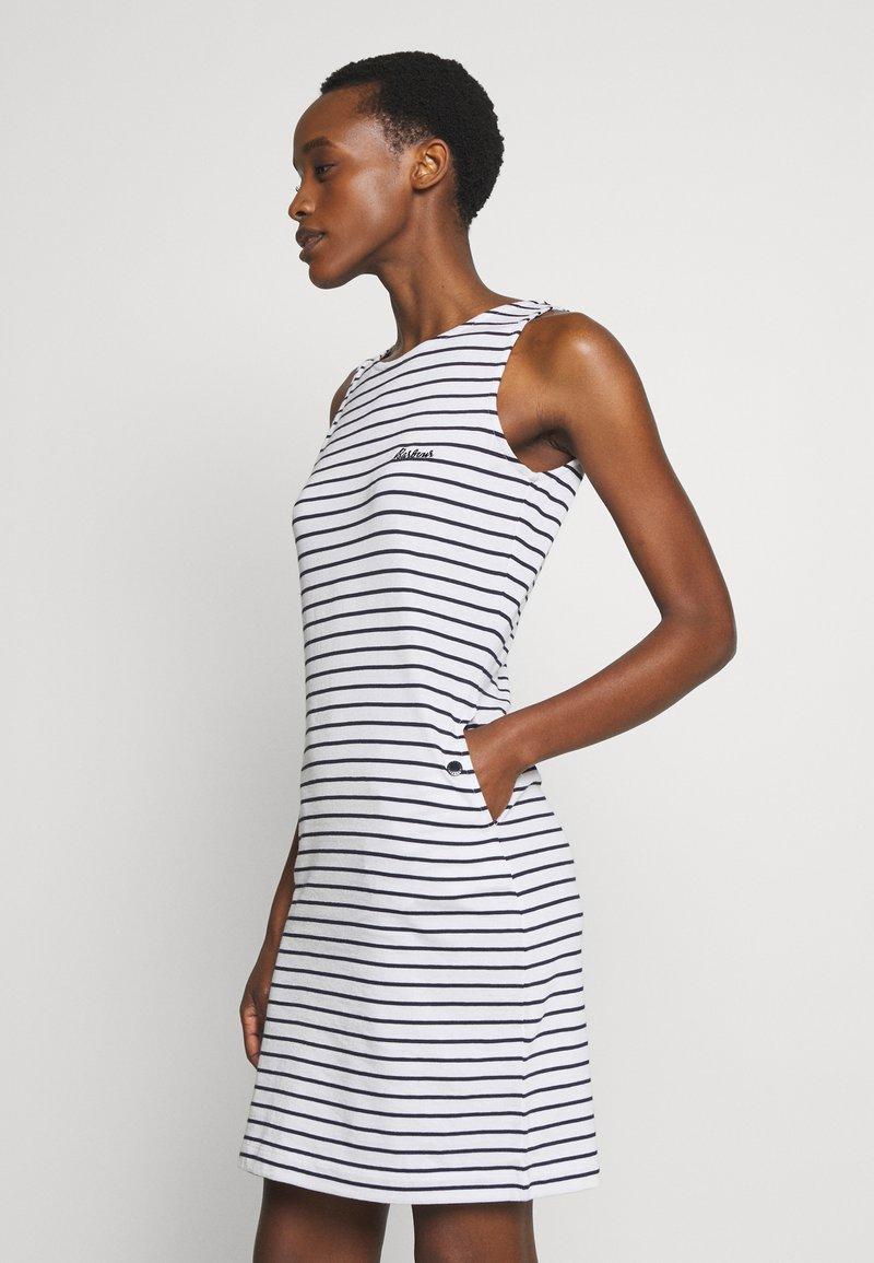 Barbour - DALMORE STRIPE DRESS - Sukienka etui - white/navy