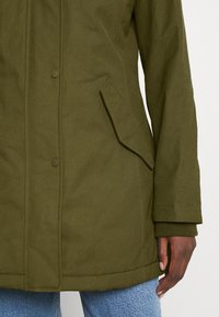 Marc O'Polo - THERMORE SHAPED FIX HOOD FRONT ZIP - Light jacket - natural olive - 7