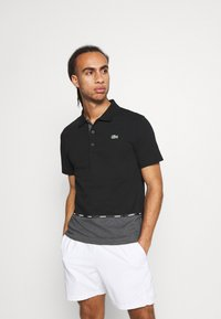 Lacoste Sport - TAPING - Polotričko - black/pitch chine-pitch chine - 0