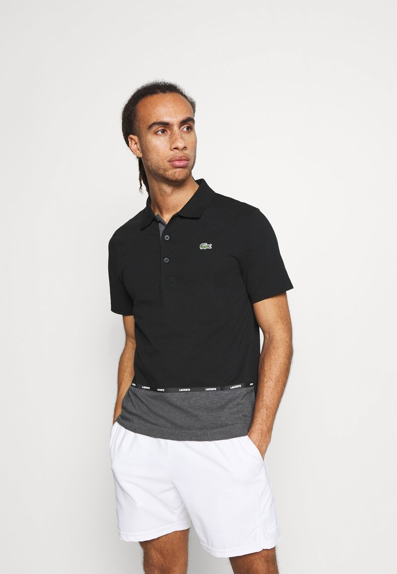 Lacoste Sport - TAPING - Polotričko - black/pitch chine-pitch chine