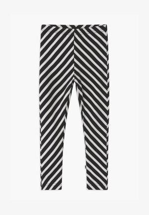 STRIPE UNISEX - Leggings - Trousers - black/sand