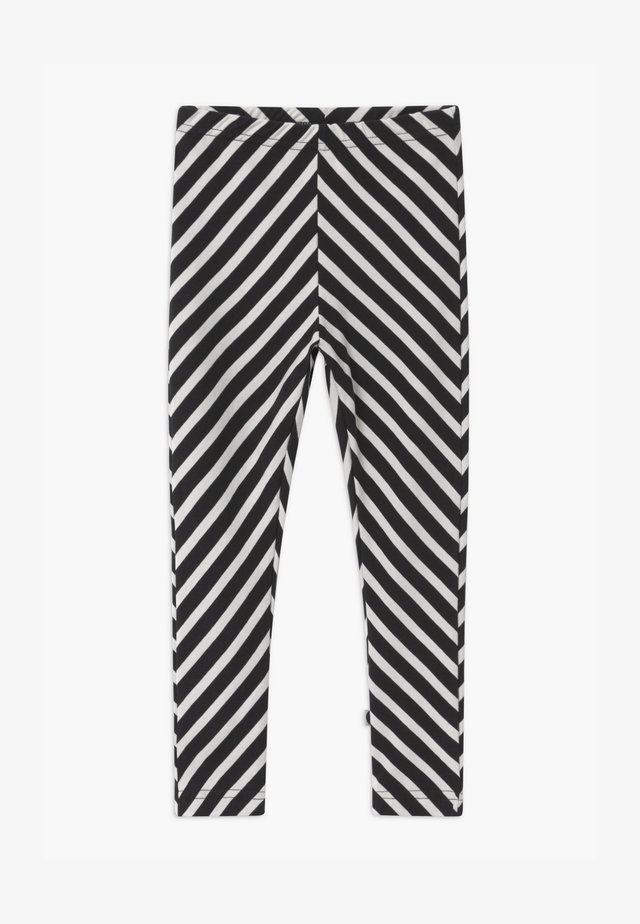 STRIPE UNISEX - Leggings - black/sand
