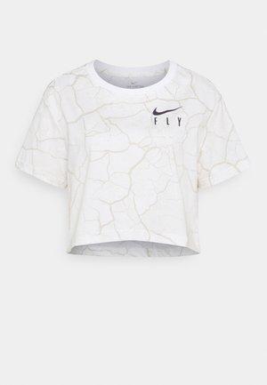 CROP TEE - T-shirts med print - white