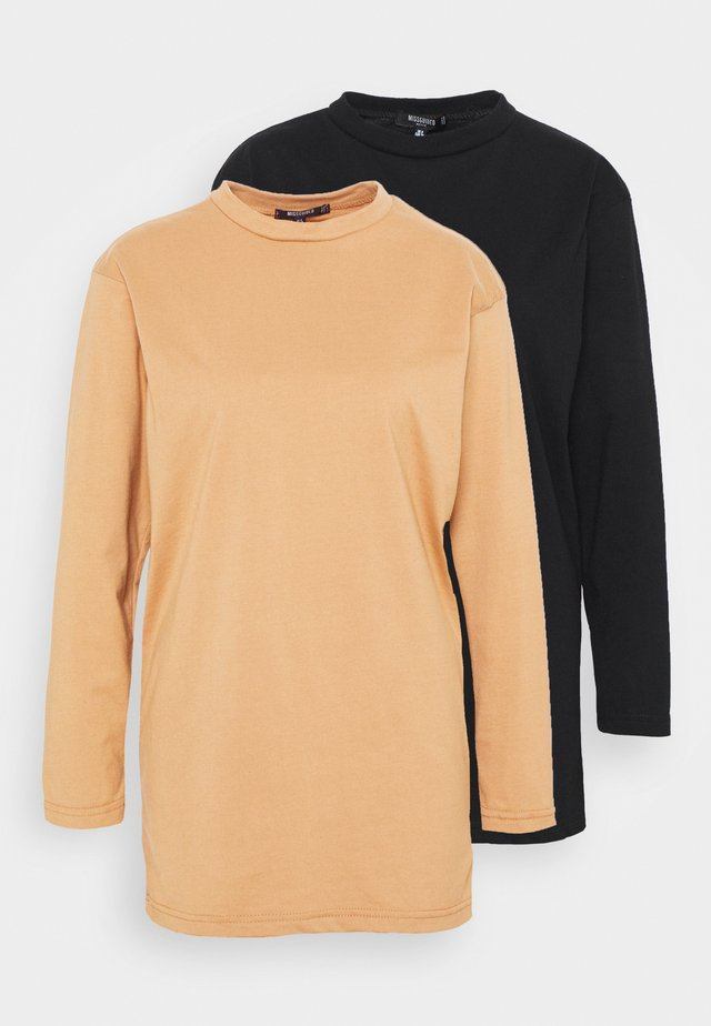BASIC DRESS 2 PACK - Robe en jersey - black