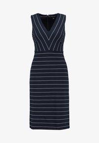Banana Republic - SHEATH STRIPE - Jersey dress - white/navy - 4