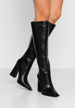 PIXXEL - High heeled boots - black