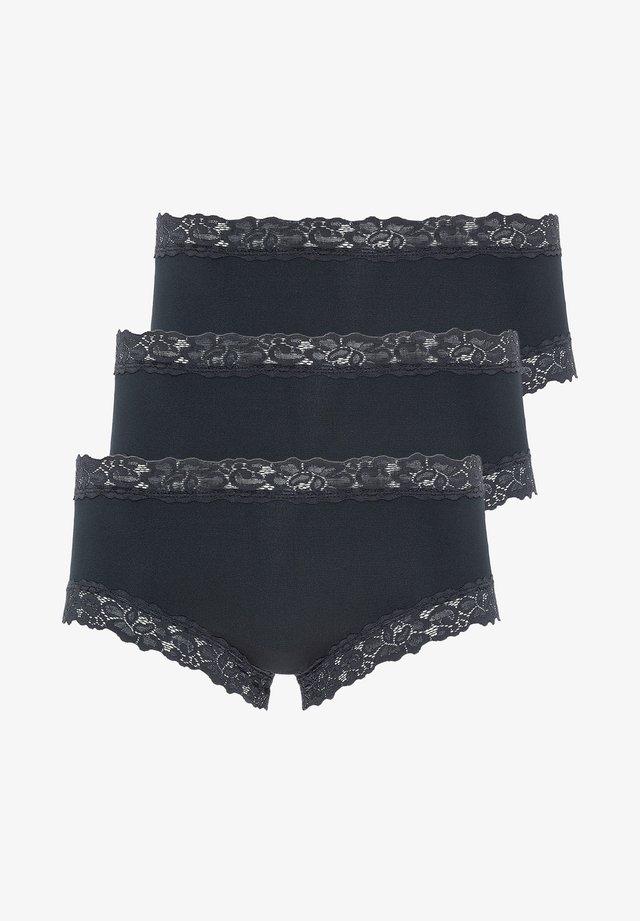 SLIP 3ER PACK PARISIENNE - Pants - schwarz