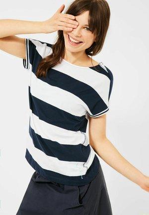 STREIFEN MUSTER - Print T-shirt - blau