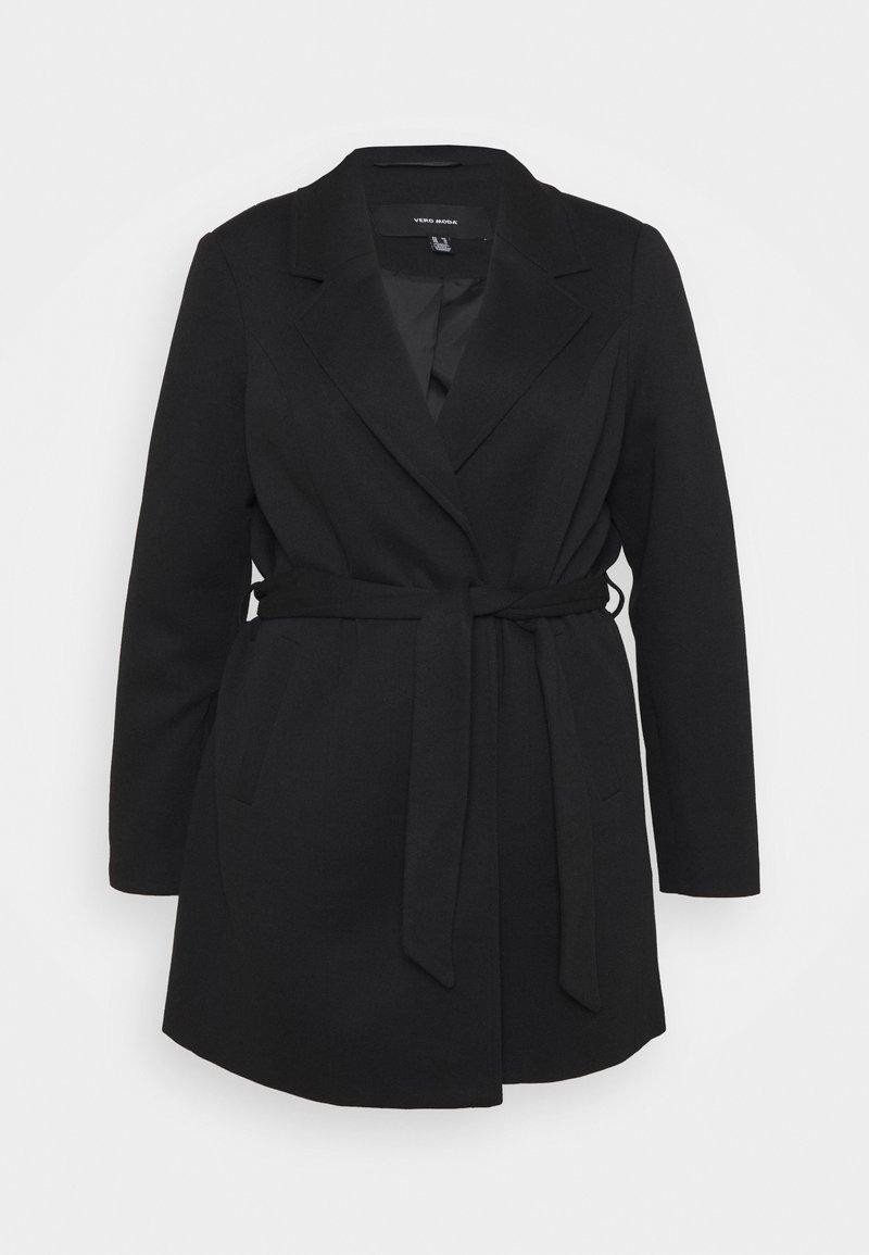 Vero Moda Curve - VMVERODONA TRENCHCOAT CURVE - Klasický kabát - black