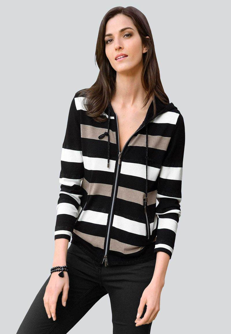 Alba Moda - Zip-up sweatshirt - schwarz,off-white,taupe