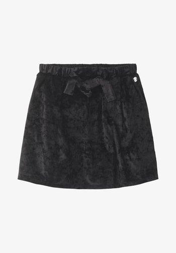 A-line skirt - caviar|black