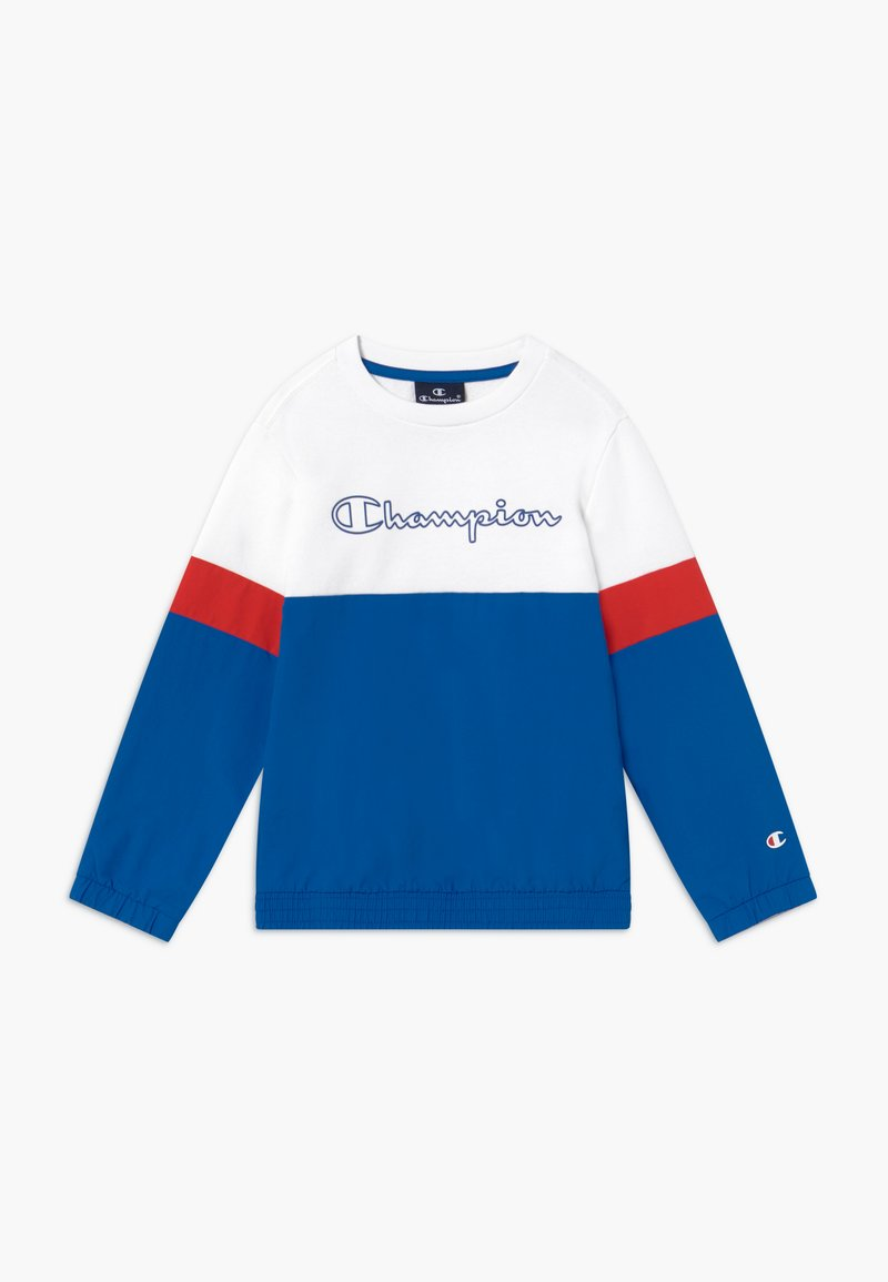 Champion - LEGACY BLOCK  CREWNECK - Sweater - royal blue/white