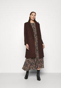 Lindex - DRESS KRINKLA - Maxi dress - offblack - 1