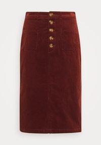 King Louie - EMILIE SKIRT - Pencil skirt - sandelwood brown - 0