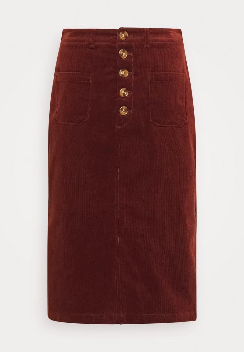 King Louie - EMILIE SKIRT - Pencil skirt - sandelwood brown